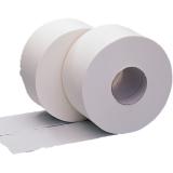 Jumbo Toilet Rolls 2 Ply White Case of 6