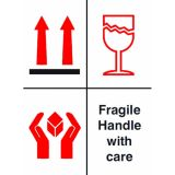 Fragile Handle With Care 108mm x 79mm