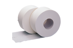 Mini Jumbo Toilet Rolls 2 Ply White