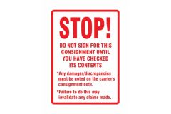 Stop Do Not Sign Labels 108mm x 79mm