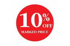 10 Percent OFF Marked Price
