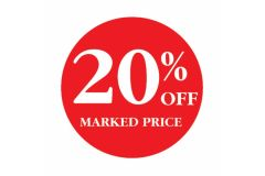 20 Percent OFF Marked Price