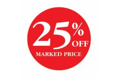25 Percent OFF Marked Price