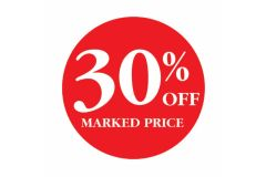 30 Percent OFF Marked Price