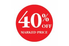 40 Percent OFF Marked Price