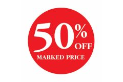 50 Percent OFF Marked Price