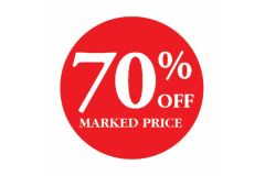 70 Percent OFF Marked Price