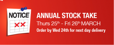 Annual Stock Take